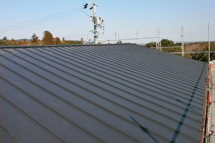 『屋根カバー工法・金属屋根たてひら』三重県志摩市浜島町 U様アフター画像
