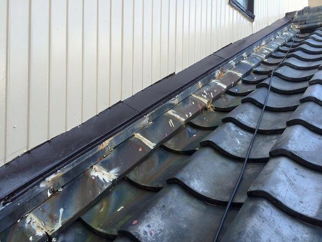 『部分屋根葺き直し工事・たてひら』三重県志摩市阿児町 K様ビフォー画像