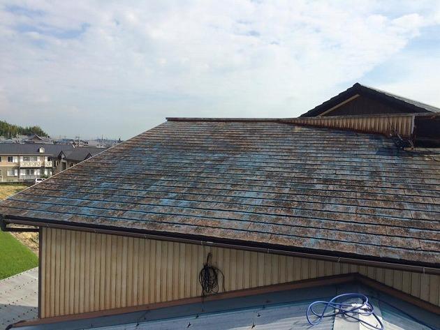 『金属屋根カバー工法・たてひら』三重県四日市市西日野 M様ビフォー画像