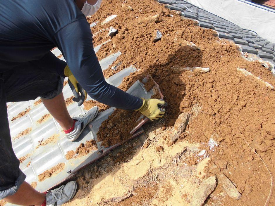 サラサラの屋根土