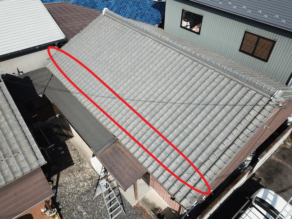 雪止めのある屋根